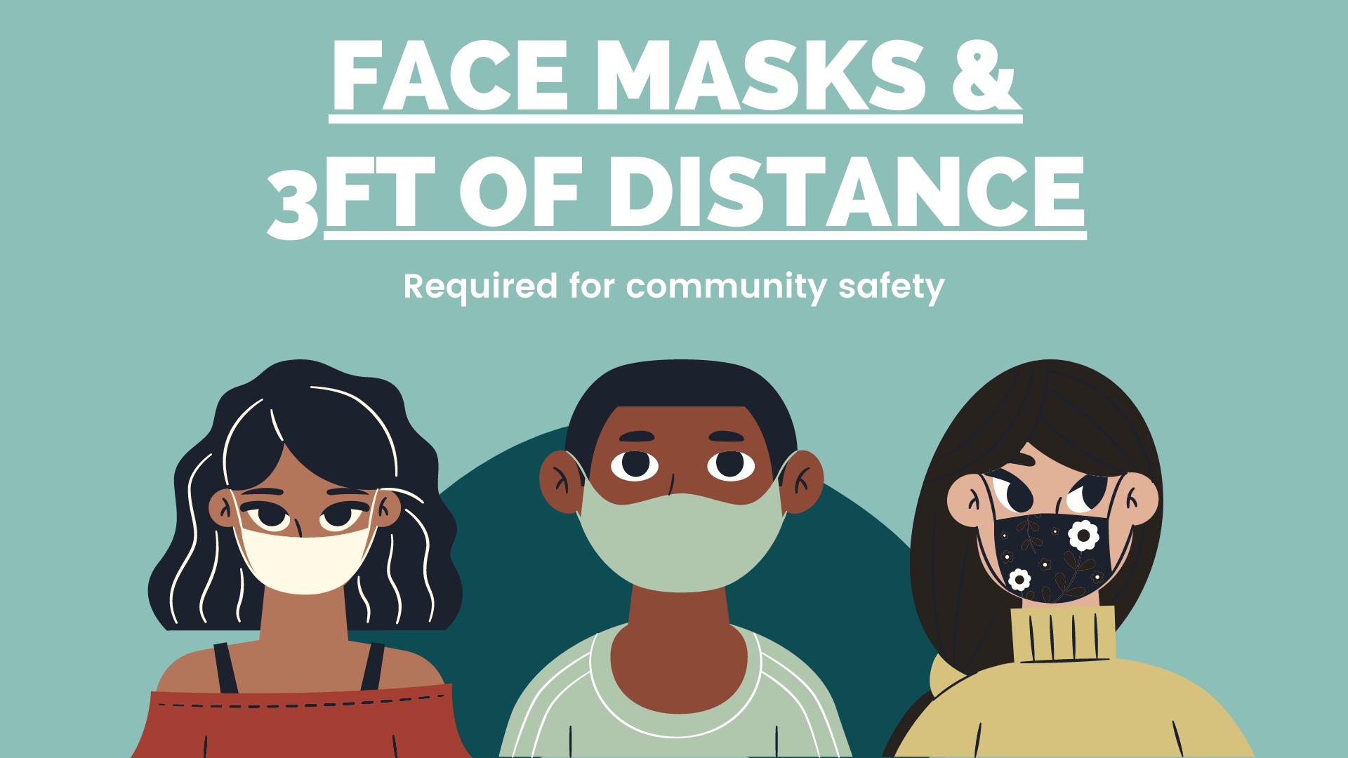Masks + 3ft Post